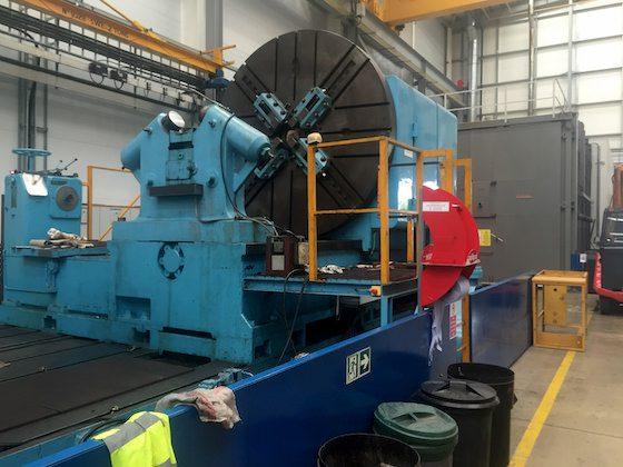 Heavy machinery on site, needing relocation