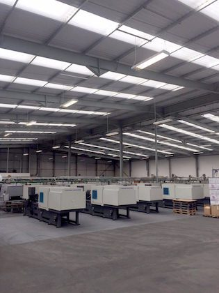 Factory relocation including machinery move