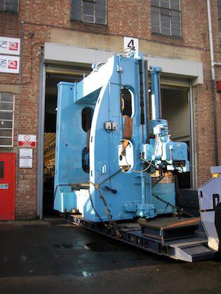 Heavy machinery move to new location